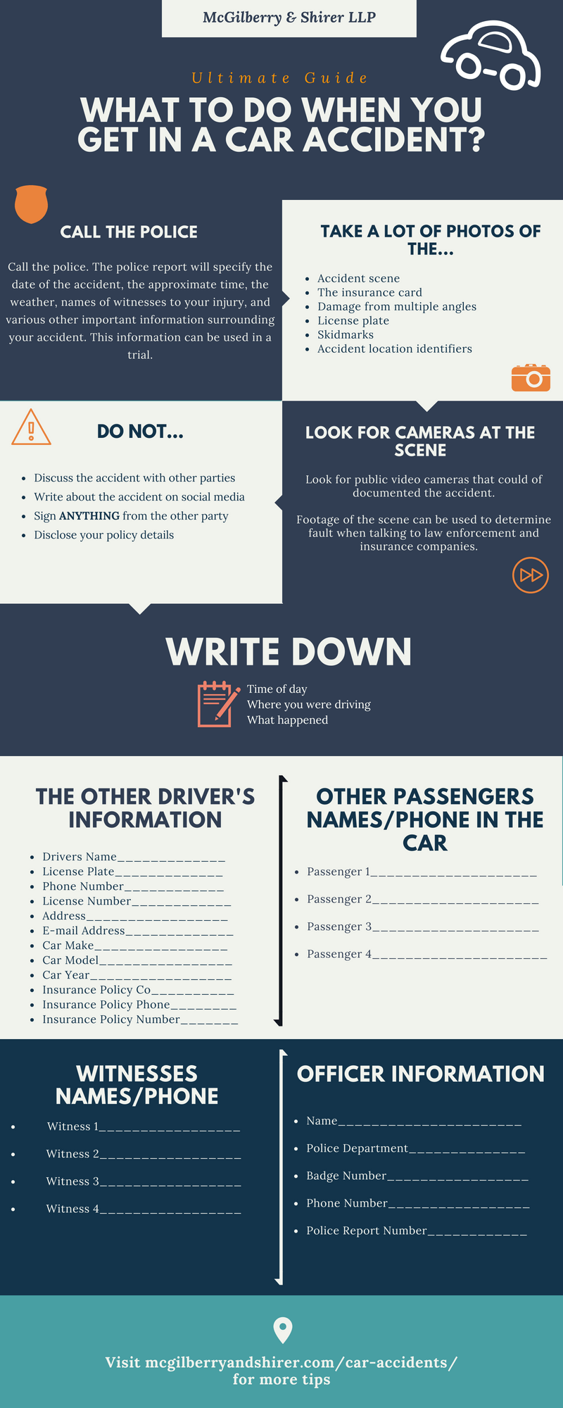 [Infographic] What To Do After a Car Accident in Dallas